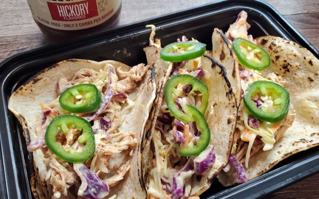 Pressure Cooker Shredded Chicken Coleslaw Tacos The Meal Prep Ninja