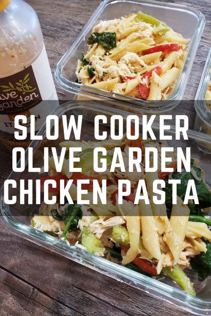 Slow Cooker Olive Garden Chicken Pasta The Meal Prep Ninja